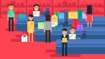 illustration de concept de magasinage