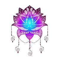 tatouage de fleur de lotus vecteur