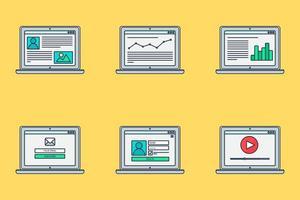 formulaire de modèle Web adaptatif sur ordinateur portable vecteur