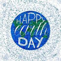 lettrage joyeux jour de la terre