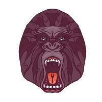 tatouage de gorille grognant