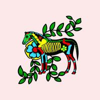 Jour du cheval mort vecteur