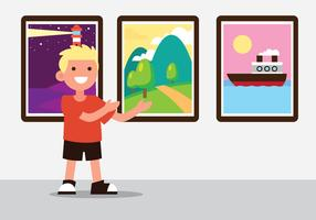 exposition de galerie de peinture
