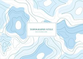 Fond de vecteur de style de Topographie