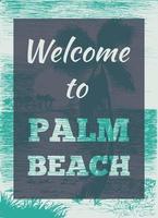 affiche de palmier tropical vecteur