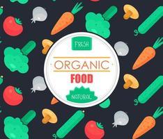 badge de légumes frais vecteur