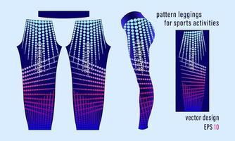 pantalon legging femme à rayures géométriques à motif rond vecteur
