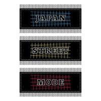t-shirt à imprimé japon street mode vecteur