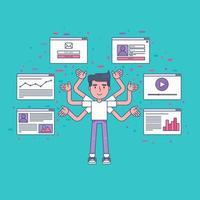 réseau social virtuel web vecteur