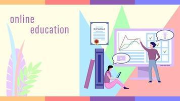 style plat de personnes éducation en ligne