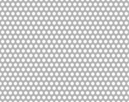 Forme métallique perforée transparente sans vis à vis