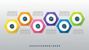 modèle d'infographie de présentation entreprise 6 options vecteur