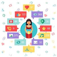 réseau de socail virtuel web