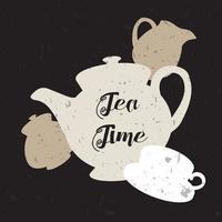 illustration de l'heure du thé