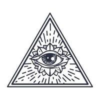tous les yeux voyants en triangle vecteur