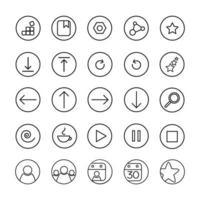 icônes d'applications Web vecteur