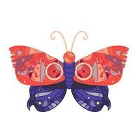 tatouage papillon steampunk vecteur