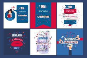 bannière de la journée de la langue anglaise