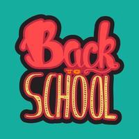 retour à l'école lettrage vecteur