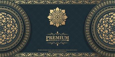 fond de mandala ornemental de luxe avec style de motif oriental islamique arabe premium vecteur