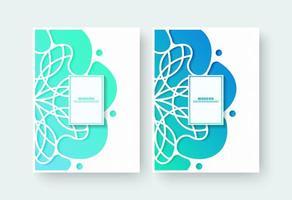 couverture de livre dégradé avec motif floral vecteur