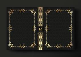 conception de couverture de livre ornemental de luxe vecteur