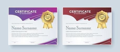 ensemble de modèles de prix du meilleur certificat créatif vecteur