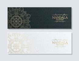 concept de fond de mandala de couleur or foncé vecteur