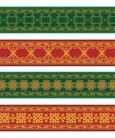 bordure colorée de bannière de henné vecteur