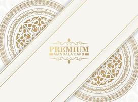 concept de fond de luxe mandala blanc vecteur