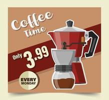 illustration vectorielle de cafetière design vecteur