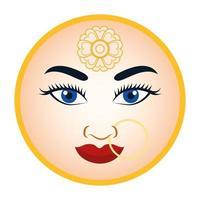 icône de visage de déesse hindoue