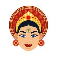 Icône de religion tête de déesse hindoue