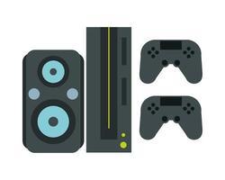 console de jeux vidéo avec commandes vecteur