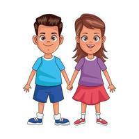 heureux petits personnages avatars enfants vecteur
