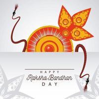 inde raksha bandhan décoration florale vecteur