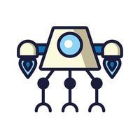 icône isolé robot cyborg tech