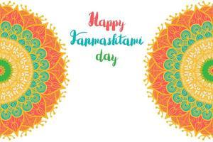 bannière de bonne journée janmashtami