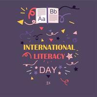 journée internationale de l'alphabétisation vecteur