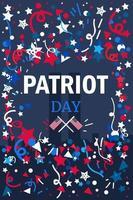 bannière de jour de patriote vecteur