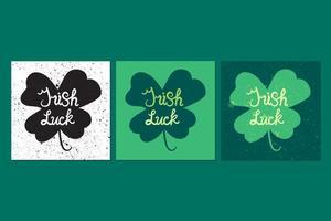 lettring de chance irlandaise dans le trèfle