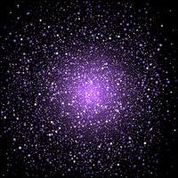 Fond de confettis étoiles violet vecteur