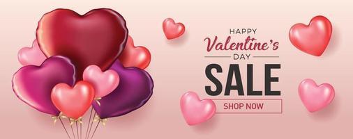 fond de vente de la Saint-Valentin composition romantique avec des coeurs. illustration vectorielle pour site Web, affiches, annonces, coupons, matériel promotionnel. vecteur