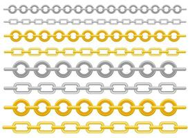 illustration de conception de vecteur de chaîne métallique isolé sur fond blanc