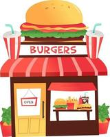 dessin animé burger shop