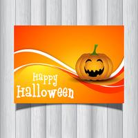 Flyer citrouille d'Halloween vecteur