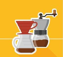 conception de machine à café vecteur