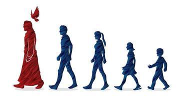 marche avec jésus suivez jésus vecteur