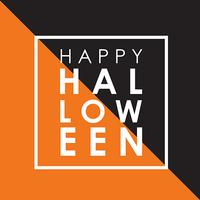 Fond d'Halloween minimal vecteur