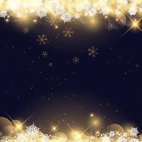 Flocons de neige et étoiles de Noël